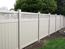 Vinyl fence with lattice insttaled in markham by wholesale