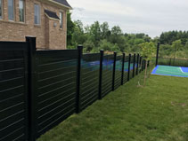 Horizontal Black Fence Complete Privacy T Amp G King City